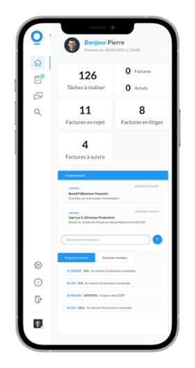 Application mobile Streamline for Invoices